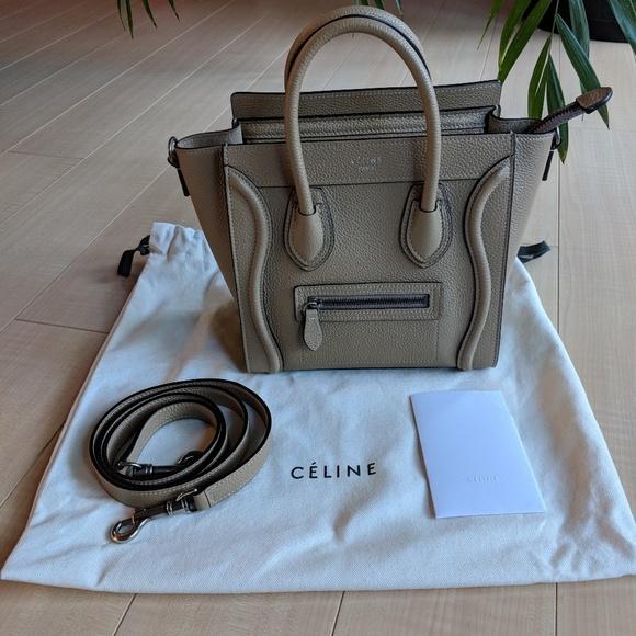 7c06d4800b64 Celine Handbags - Celine mini nano luggage tote